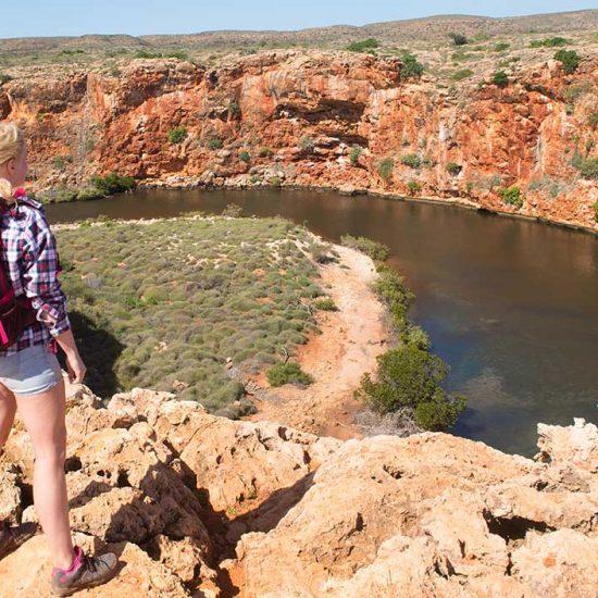 Blick auf Flussbiegung