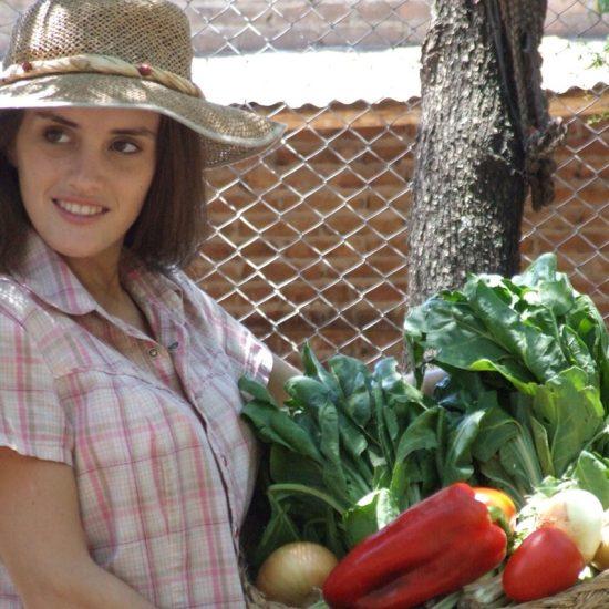Farmstay-Teilnehmerin