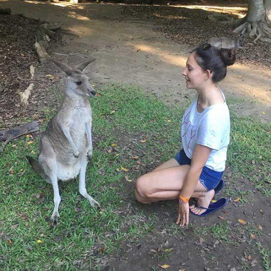 Mit meinem Känguruh
